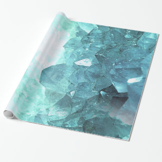 Crystal Mint Wrapping Paper
