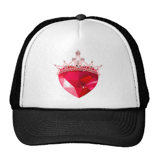 Crystal Pink Heart with Crown Trucker Hat