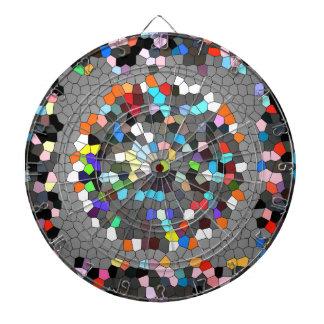 Crystal Pixels Dots Art Dartboards