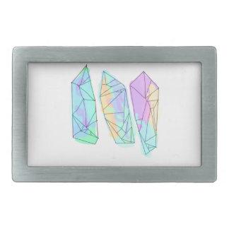 crystal rectangular belt buckles