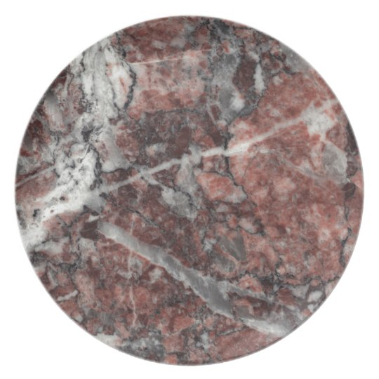Crystal Rose Stone Pattern Background - Dramatic Plate