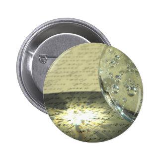 Crystal Script 2 Inch Round Button