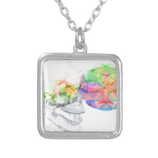 Crystal Skull DMT Pineal Alchemy Silver Plated Necklace