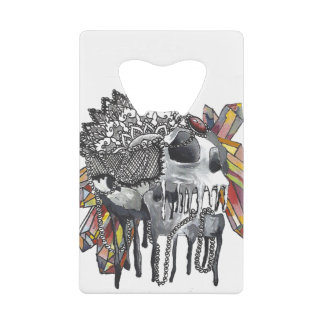Crystal Skull Mandala Credit Card Bottle Opener