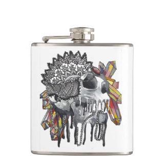 Crystal Skull Mandala Hip Flask