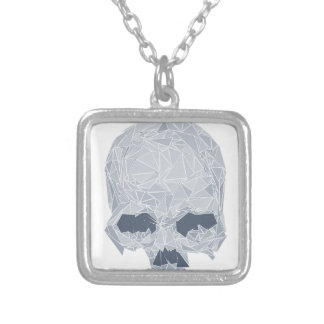 Crystal Skull Silver Plated Necklace