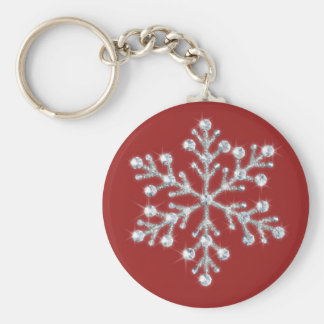 Crystal Snowflake Keychain (red)