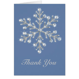 Crystal Snowflake Thank You Card