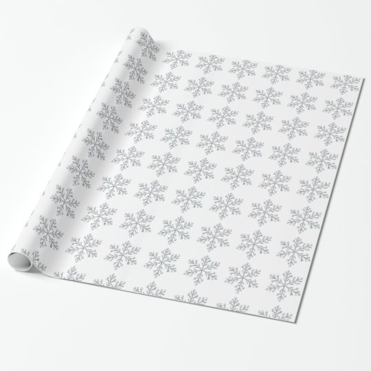 Crystal Snowflake Wrapping Paper - white