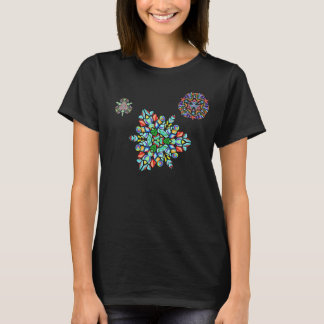 Crystal Snowflakes in the Night Air (T-shirt) T-Shirt