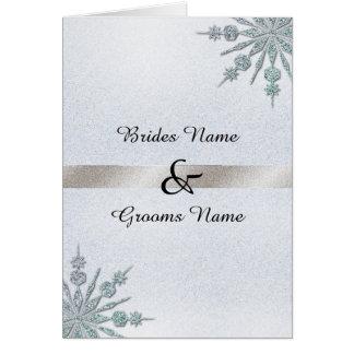 Crystal Snowflakes Wedding Folded Invitation