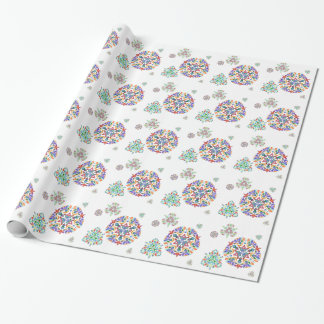 Crystal Snowflakes Wrapping Paper