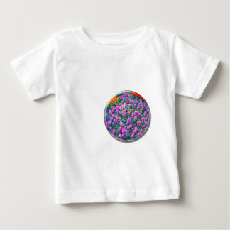 Crystal sphere with pink hyacinths on white baby T-Shirt