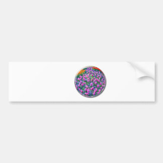 Crystal sphere with pink hyacinths on white bumper sticker