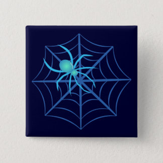 Crystal Spider 2 Inch Square Button