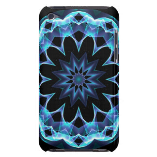 Crystal Star, Abstract Glowing Blue Mandala iPod Touch Cases