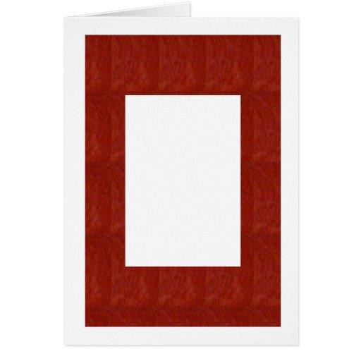 Crystal Stone Border: EDITABLE add text or image Card