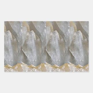CRYSTAL Stone Jewel Healing Success FUN RT NVN463 Rectangular Sticker