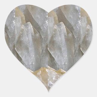 CRYSTAL Stone Jewel Healing Success FUN RT NVN463 Heart Stickers