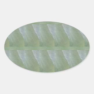 CRYSTAL Stone Jewel Healing Success FUN RT NVN470 Oval Sticker