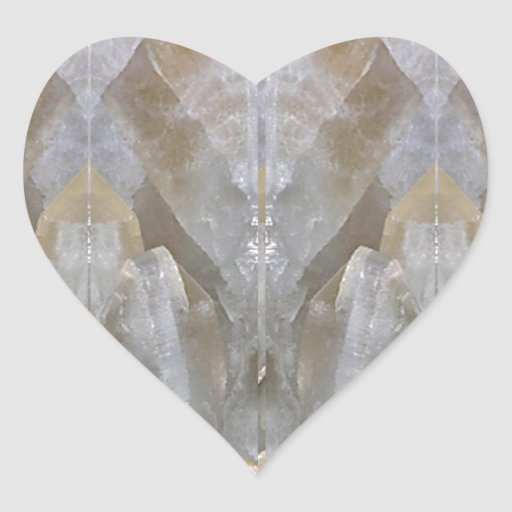 CRYSTAL Stone Jewel Healing Success FUN RT NVN473 Heart Sticker