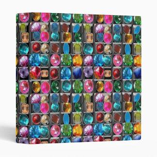 Crystal Stone Jewel Pattern Vinyl Binder