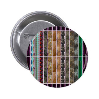 Crystal Stone Mosiac Print on Lowpriced Gifts fun 2 Inch Round Button