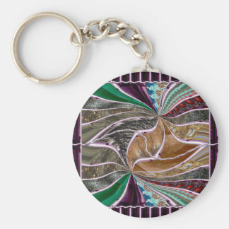 Crystal Stone Mosiac Print on Lowpriced Gifts fun Basic Round Button Keychain