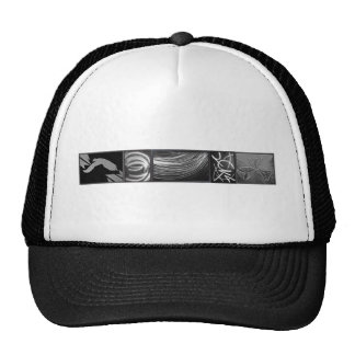 Crystal wall art trucker hat