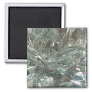 Crystal Water Lily Square Magnet