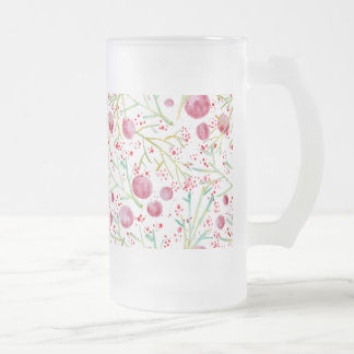 Crystal Watercolors Frosted Glass Beer Mug