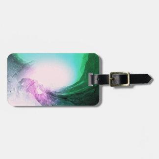 Crystal Wave Luggage Tag