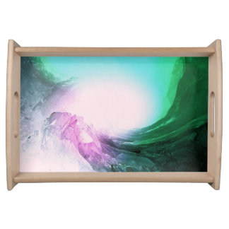 Crystal Wave Serving Tray