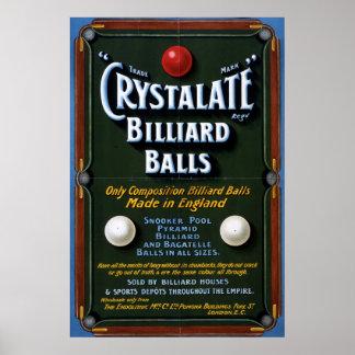 Crystalate Billiard Balls,1908 Poster