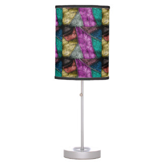 Crystalized Stained Glass Look lamps and shades