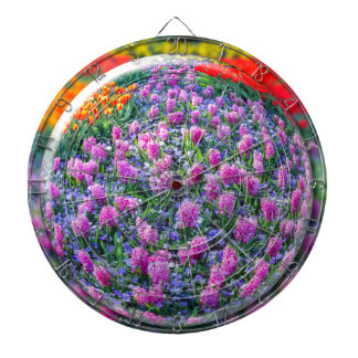 Crystall ball with pink hyacinths and flowers dart board