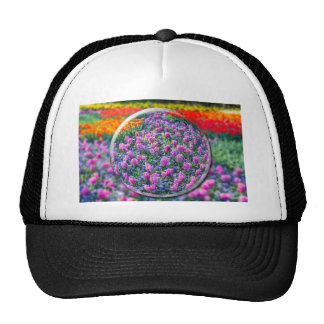 Crystall ball with pink hyacinths and flowers trucker hat