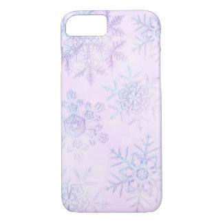 Crystalline Snowflakes Light Pink Phone Case