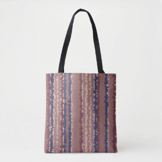crystallize stripes pastel color tote bag