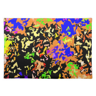 Crystallized Paint Splatter - Warm Colors Placemat