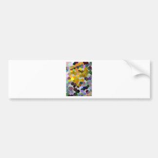 Crystallized pixel sample - crystallized pixels bumper sticker