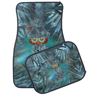 Crystallized Winter Fashion Owl Car Mats Set