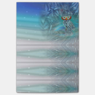 Crystallized Winter Fashion Owl Post-it Notes