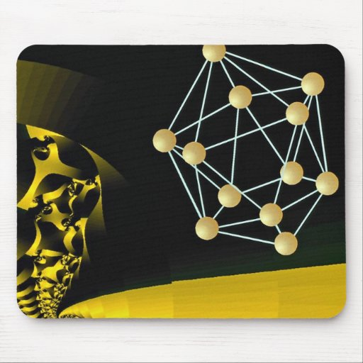 Crystals fresh and aged Orbit Mouse Pad