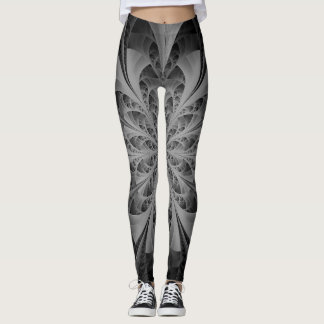 Crystals in black and white leggings