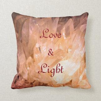 Crystals Love & Light  natural design Throw Pillow