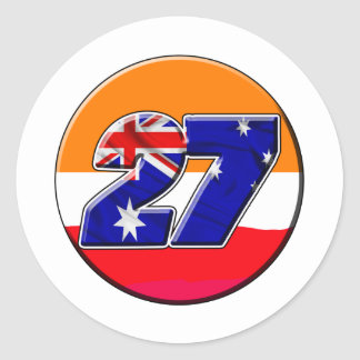 CS27repcircle Classic Round Sticker