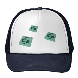 Cs Caesium Mesh Hat