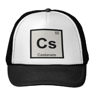 Cs - Castanets Music Chemistry Periodic Table Trucker Hat