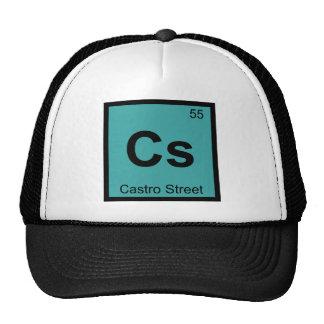 Cs - Castro Street San Francisco Chemistry Symbol Mesh Hats